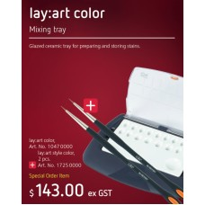 Renfert LayArt Color Mixing Tray 10470000 + (lay:art style color brush 2 pieces 17250000) PROMO Valid Till 31.3.2020
