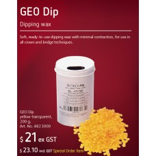 Renfert GEO Dip - Dipping Wax - Yellow - 4823000 - SPRING PROMO - SPECIAL ORDER