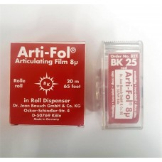 Bausch BK25 Arti-Fol Dispenser - 22mm Wide - D/Sided - 8µ - Red - 20m