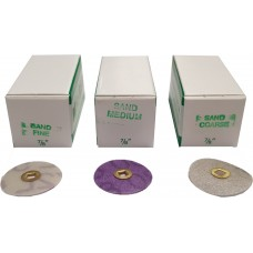 "Moores Plastic Discs Sand 7/8"" (22mm) - Pack of 50"