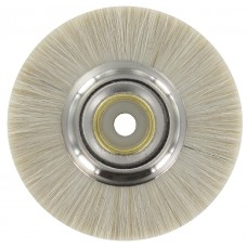 Single Row Slimline Lathe Brush 48mm White Goat Hair - 10 Pack