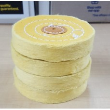 "Yellow Impregnated Buff Stitched 4"" x 55 Ply (100 x 18mm) - PACK 4 - CLEARANCE"