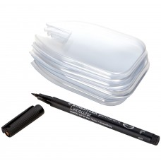 Alma Denture Gauge Plastic Sleeves Kit - 50 Sleeves + Marker Pen (20003)