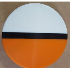 Mouthguard Blanks 4mm 125mm ROUND - 3 Colour - ORANGE/BLACK/WHITE - CLEARANCE