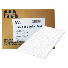 Cello Clinical Large Barrier Pads / Dental Bibs - White - 4 Ply - 315 x 500mm - 500/Ctn