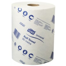 Tork Universal Roll Towel (Raw Paper – Continuous Roll) - 1 Ply – 18cm x 90mm - 16 Rolls/Ctn (21 87 951)