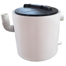 Plaster Trap (Settling Tank) 37 Litre PVC – Round with Lid and Internal Basket