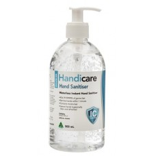 Dentalife HANDICARE 70% Hand Sanitiser Gel 500ml Pump Bottle - NEW BATCH JULY 2020 - Back to original neutral smell.