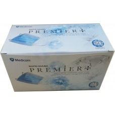MEDICOM PREMIER + Face Masks - Level 2 - Blue - Earloop - TGA - Made In Taiwan 1 x  Box 50 – REF GMK203515