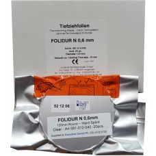 "Aldente Folidur N Hard Splint / Aligner Material - 0.6mm (.020"") -120mm Round – Clear - Pack 20 (581-012-045)"