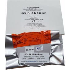 "Aldente Folidur N Hard Splint / Aligner Material - 0.8mm (0.030"") - 120mm Round – Clear - Pack 100 (581-012-153)"