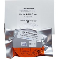 "Aldente Folidur N Hard Splint / Aligner Material - 2.0mm (.080"") - 120mm Round – Clear - Pack 10 (581-012-302)"