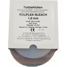 Aldente Foliflex Bleach 1.0mm - Soft - 120mm Round – Clear with Insulating / Spacer Foil Layer - Pack 20 (581-012-053) - 581310