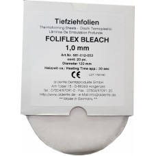 Aldente Foliflex Bleach 1.0mm -Soft - 120mm Round – Clear - Pack 16 (581-012-053) - SPLIT PACK CLEARANCE