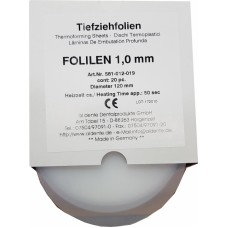 Aldente Folilen 1.0mm - 120mm Round – Clear - Pack 20 (581-012-019)