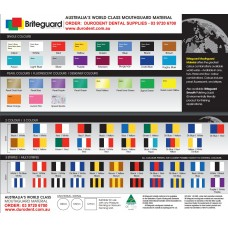 Briteguard Mouthguard Material Colour Chart Tent Card - 1