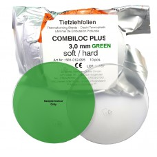 Aldente Combiloc Plus Dual Layer (Hard / Soft) Splint Material - 3.0mm - Round 120mm - GREEN - Pack 10