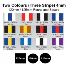Mouthguard Blanks 4mm Easy Colour (Two Colour / Three Stripes - Stripe Down Centre)
