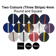 Mouthguard Blanks 4mm Easy Colour (2 colour - Stripe Down Centre)