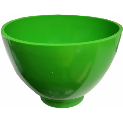 Alginate Rubber Flexible Mixing Bowl – Bright Green - 300ml, 75mm H x 125mmØ - 1pc
