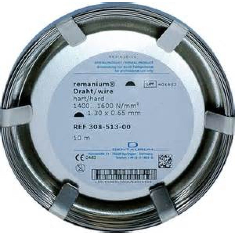 Dentaurum remanium® Stainless Steel Wire, Hard, HALF ROUND - Options ...