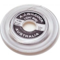"A.J Wilcock Silver Solder Roll - Dia 0.026"" - 25ft"