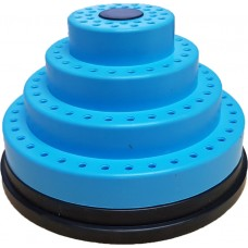 Stepped Bur Holder Stand Round Rotating - Blue -  120 Holes