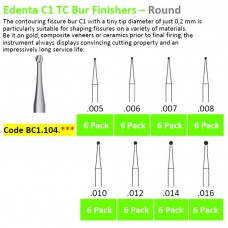 Edenta TC C1.104.*** Burs Finisher Round - 6 Pack - Options Available
