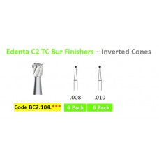Edenta TC C2.104.*** Burs Finisher Inverted Cone - 6 Pack - Options Available