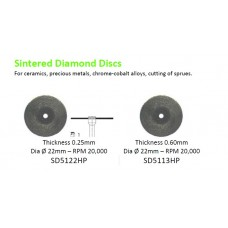 Edenta Sintered Diamond Discs 5122 & 5113 - Option Available