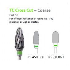 Edenta TC Cross Cut Coarse Burs - Green Band - Options Available