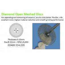 Edenta Diamond Open Meshed Disc - 0.15mm x Dia Ø 22mm 400.514.220HP