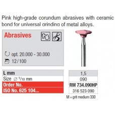 Edenta Ceramic Abrasive, Grit 330 Medium, Pink – Disc Style – RM734.090HP