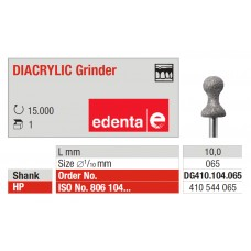 Edenta Diacrylic Diamond Bur Grinder - DG410.104.065 - 1pc