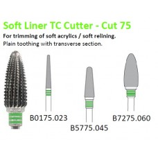 Edenta TC Soft Liner / Acrylic Cutter - Cut 75 - 3 Strip Green Band