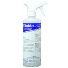 """Clinidet 500ml Office Dispenser with spray top - Label & """"No Mist"""" Applicator (Empty) CLDS - 1pc"""