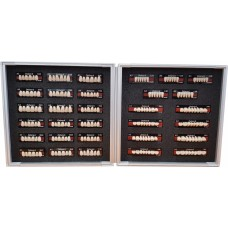 Kulzer Delara 6/8 Acrylic Teeth Range - Shade A3 - Aluminium Display Case ‐ Living Mould Case (23 Ants & 8 Post Sets) - 66077519