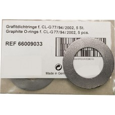 Kulzer Hera Graphite Sealing Rings f. CL-G77/94/2002 - 5 pcs - 66009033