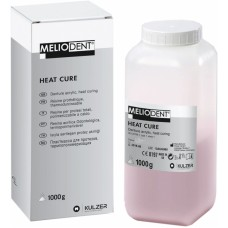 Kulzer Meliodent Heatcure Powder - 1kg - Pink or Clear
