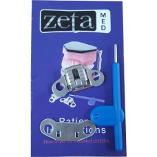 "zMDSA ""Zeta Med"" Snoring Device Component With Wings – Type C - Titra Table Appliance - 1 Unit"