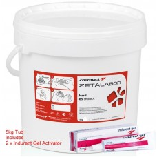 Zhermack Zetalabor Lab Putty 5KG (C400811) includes 2 x Indurent Gel 60ml Activators